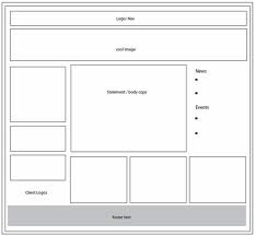 website wireframe crated in illustrator