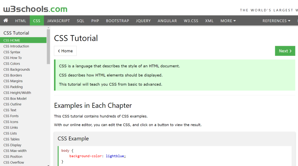 How to Teach Yourself ...W3schools Css